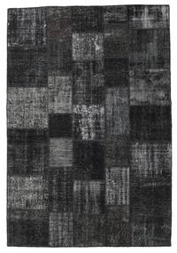 Patchwork Rug 204X300 Authentic  Modern Handknotted Black/Dark Grey (Wool, Turkey)