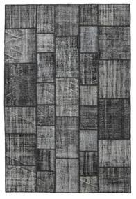 パッチワーク 絨毯 206X305 モダン 手織り 濃いグレー/ライトグリーン (ウール, トルコ)