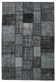 Patchwork Rug 205X306 Authentic  Modern Handknotted Dark Grey/Light Grey/Dark Blue (Wool, Turkey)