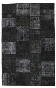 Patchwork Rug 198X302 Authentic  Modern Handknotted Black/Dark Grey (Wool, Turkey)