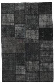 Patchwork Teppe 196X301 Ekte Moderne Håndknyttet Svart/Mørk Grå (Ull, Tyrkia)