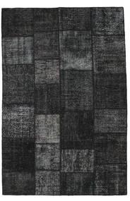 パッチワーク 絨毯 196X298 モダン 手織り 黒/濃いグレー (ウール, トルコ)