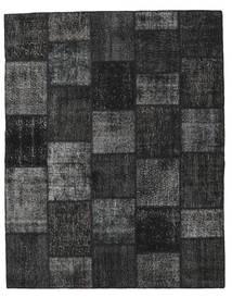 Patchwork Alfombra 199X250 Moderna Hecha A Mano Negro/Gris Oscuro (Lana, Turquía)