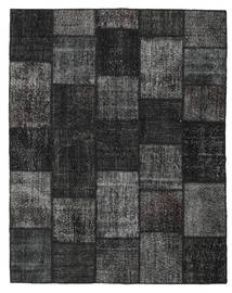 Patchwork Alfombra 198X250 Moderna Hecha A Mano Negro/Gris Oscuro (Lana, Turquía)