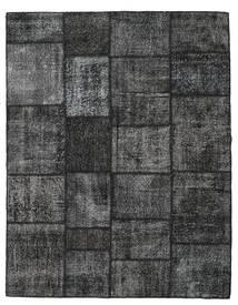 Patchwork Teppich 198X253 Echter Moderner Handgeknüpfter Dunkelgrau/Dunkelblau (Wolle, Türkei)