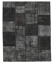 Patchwork Covor 198X252 Modern Lucrat Manual Negru/Gri Închis (Lână, Turcia)