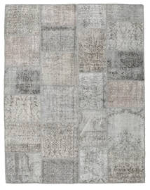 Patchwork Rug 196X251 Authentic  Modern Handknotted Light Grey (Wool, Turkey)