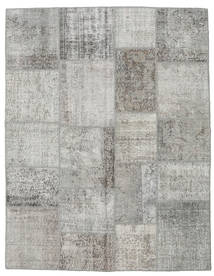 Patchwork Rug 196X250 Authentic  Modern Handknotted Light Grey (Wool, Turkey)