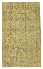 Colored Vintage Rug 161X266 Authentic  Modern Handknotted Light Green/Olive Green (Wool, Turkey)