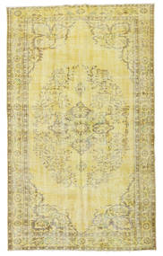 Colored Vintage Rug 160X264 Authentic  Modern Handknotted Yellow/Light Green (Wool, Turkey)