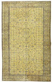 Colored Vintage Rug 166X272 Authentic  Modern Handknotted Light Green/Yellow/Olive Green (Wool, Turkey)