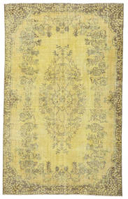 Colored Vintage Rug 183X296 Authentic  Modern Handknotted Yellow/Light Green (Wool, Turkey)