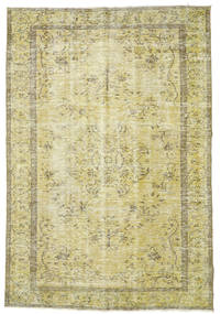 Colored Vintage Rug 193X284 Authentic  Modern Handknotted Light Green/Yellow (Wool, Turkey)