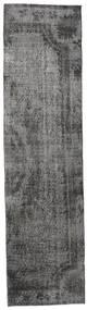 Colored Vintage Rug 82X316 Authentic  Modern Handknotted Hallway Runner  Dark Grey/Light Grey (Wool, Turkey)