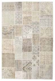 Patchwork Rug 198X300 Authentic  Modern Handknotted Light Grey/Light Brown (Wool, Turkey)