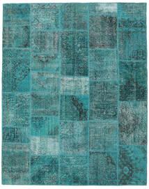 Patchwork Teppe 198X251 Ekte Moderne Håndknyttet Turkis Blå/Mørk Turkis (Ull, Tyrkia)