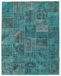 Patchwork Rug 200X251 Authentic  Modern Handknotted Dark Turquoise  /Turquoise Blue (Wool, Turkey)