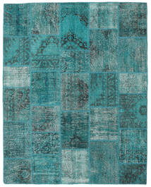 Patchwork Rug 197X250 Authentic  Modern Handknotted Turquoise Blue/Dark Turquoise   (Wool, Turkey)
