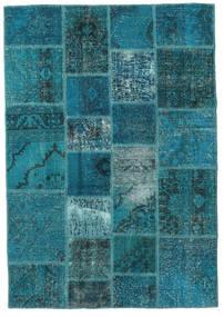 Patchwork Szőnyeg 140X200 Modern Csomózású Sötét Turquoise/Sötétkék (Gyapjú, Törökország)