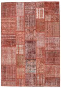 Patchwork Rug 205X296 Authentic  Modern Handknotted Dark Red/Light Brown (Wool, Turkey)