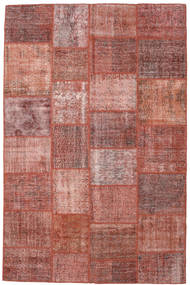 Patchwork Rug 198X302 Authentic  Modern Handknotted Brown/Light Pink (Wool, Turkey)