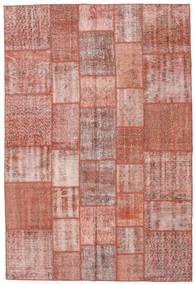 Patchwork Teppe 204X303 Ekte Moderne Håndknyttet Lyserosa/Mørk Rød/Lysbrun (Ull, Tyrkia)