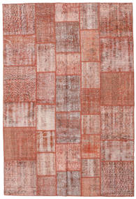 Patchwork Rug 204X303 Authentic  Modern Handknotted Light Pink/Dark Red/Light Brown (Wool, Turkey)