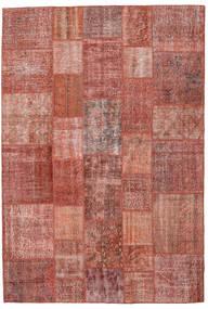 パッチワーク 絨毯 204X300 モダン 手織り 茶/薄茶色 (ウール, トルコ)
