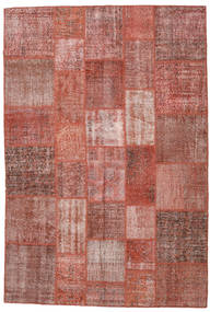 Patchwork Rug 204X301 Authentic  Modern Handknotted Brown/Light Pink (Wool, Turkey)