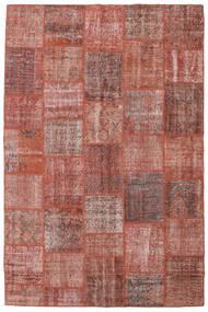 Patchwork Tapis 198X301 Moderne Fait Main Marron/Marron Clair (Laine, Turquie)
