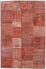 Patchwork Matto 198X300 Moderni Käsinsolmittu Ruskea/Tummanpunainen (Villa, Turkki)