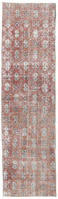 Colored Vintage Rug 90X275 Authentic  Modern Handknotted Hallway Runner  Light Grey/Light Pink (Wool, Turkey)