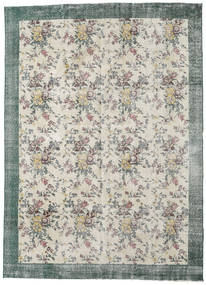 Colored Vintage Rug 224X307 Authentic  Modern Handknotted Light Grey/Dark Beige (Wool, Turkey)
