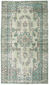 Colored Vintage Rug 187X330 Authentic  Modern Handknotted Light Grey/Pastel Green (Wool, Turkey)