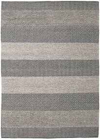 Folke - Brown Rug 250X350 Authentic  Modern Handwoven Light Grey/Dark Grey Large (Wool, India)