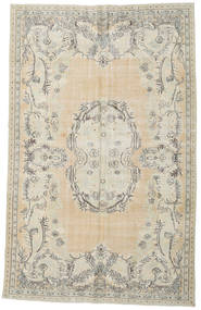 Colored Vintage Rug 200X323 Authentic  Modern Handknotted Light Grey/Light Brown (Wool, Turkey)