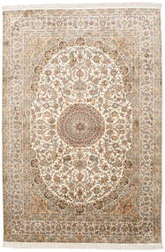 Kashmir 100% Silkki Matto 171X252 Itämainen Käsinsolmittu Vaaleanruskea/Beige (Silkki, Intia)