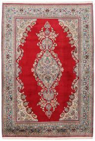 Kashmir 100% Silkki Matto 152X223 Itämainen Käsinsolmittu Ruskea/Tummanharmaa (Silkki, Intia)