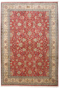 Kashmir Pure Silk Rug 188X273 Authentic  Oriental Handknotted Light Brown/Brown (Silk, India)