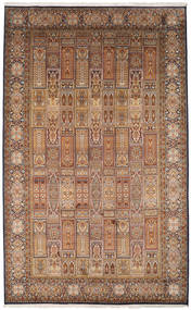 Kashmir Pure Silk Rug 190X307 Authentic  Oriental Handknotted Light Brown/Brown (Silk, India)