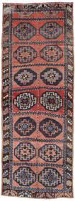 Herki Vintage Vloerkleed 144X392 Echt Oosters Handgeknoopt Tapijtloper Roestkleur/Purper (Wol, Turkije)