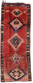 Herki Vintage Matta 153X390 Äkta Orientalisk Handknuten Hallmatta Mörkröd/Mörkbrun/Roströd (Ull, Turkiet)