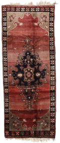 Herki Vintage Rug 163X408 Authentic  Oriental Handknotted Hallway Runner  Dark Red/Dark Brown (Wool, Turkey)