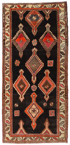Herki Vintage Rug 155X335 Authentic  Oriental Handknotted Hallway Runner  Dark Brown/Light Brown (Wool, Turkey)