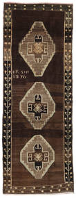 Herki Vintage Rug 120X300 Authentic  Oriental Handknotted Hallway Runner  Dark Red/Light Brown (Wool, Turkey)
