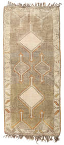 Herki Vintage Rug 132X290 Authentic  Oriental Handknotted Hallway Runner  Light Brown/Beige (Wool, Turkey)