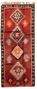 Herki Vintage Vloerkleed 166X403 Echt Oosters Handgeknoopt Tapijtloper Donkerrood/Roestkleur (Wol, Turkije)