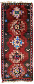 Herki Vintage Rug 170X416 Authentic Oriental Handknotted Hallway Runner Dark Red/Black (Wool, Turkey)