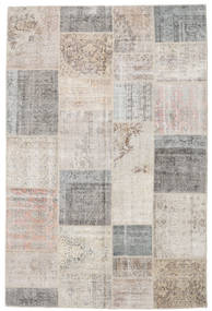 Patchwork Rug 198X298 Authentic  Modern Handknotted Light Grey (Wool, Turkey)