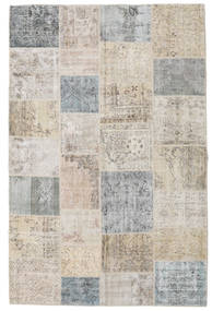 Patchwork Rug 197X301 Authentic  Modern Handknotted Light Grey/Light Brown (Wool, Turkey)
